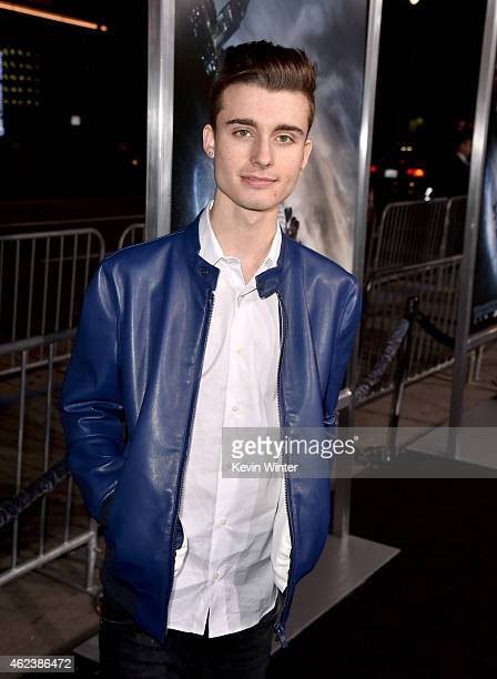 Internet personality Chris Collins attends the premiere of Paramount Pictures' 'Project Almanac' at TCL Chinese Theatre on January 27 2015 in...