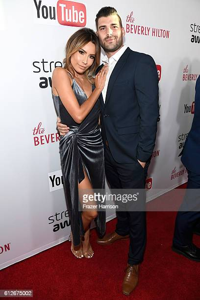 Internet personality Desi Perkins and Stephen Perkins attend the 6th annual Streamy Awards hosted by King Bach and live streamed on YouTube at The...