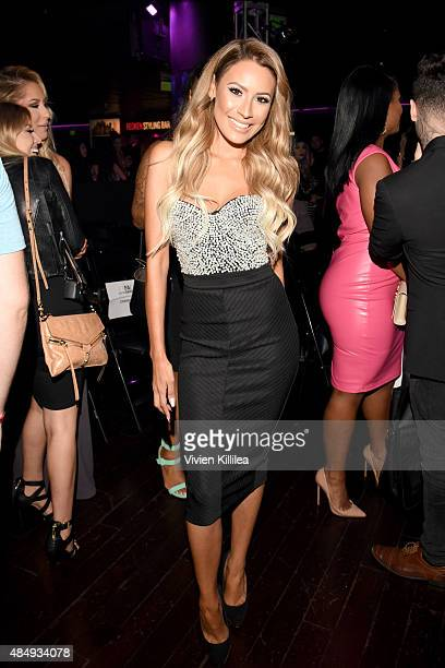 Internet personality Desi Perkins attends the 4th Annual NYX FACE Awards at Club Nokia on August 22 2015 in Los Angeles California