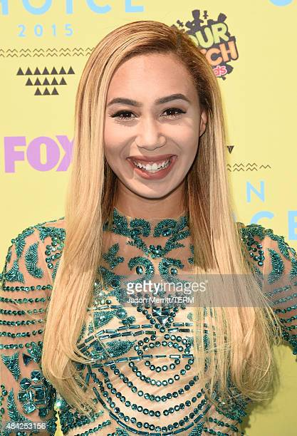 Internet personality Eva Gutowski attends the Teen Choice Awards 2015 at the USC Galen Center on August 16 2015 in Los Angeles California