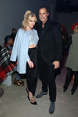 Internet personality Gigi Gorgeous and photograpger Nigel Barker attend the Georgine Fall 2016 fashion show during New York Fashion Week The Shows at...