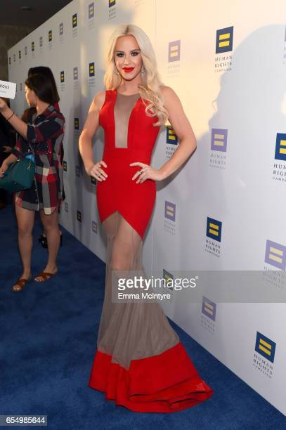 Internet personality Gigi Gorgeous at The Human Rights Campaign 2017 Los Angeles Gala Dinner at JW Marriott Los Angeles at LA LIVE on March 18 2017...