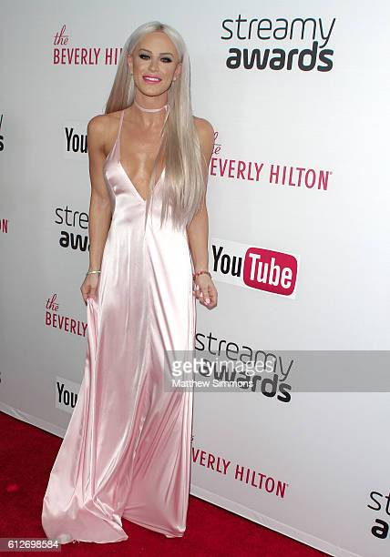Internet personality Gigi Gorgeous attends the 2016 Streamy Awards at The Beverly Hilton Hotel on October 4 2016 in Beverly Hills California