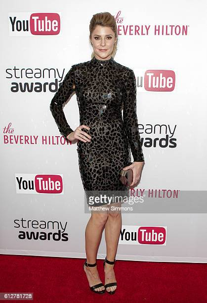 Internet personality Grace Helbig attends the 2016 Streamy Awards at The Beverly Hilton Hotel on October 4 2016 in Beverly Hills California