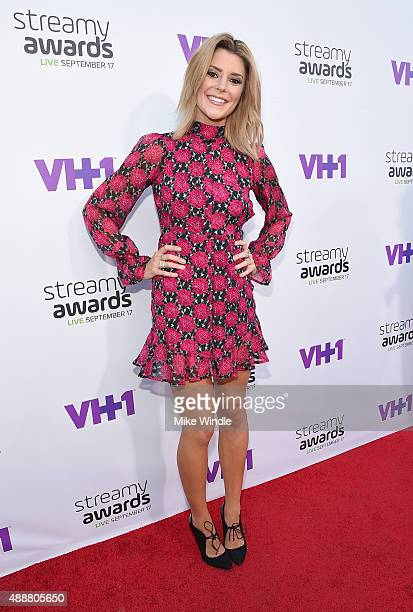 Internet personality Grace Helbig attends VH1's 5th Annual Streamy Awards at the Hollywood Palladium on Thursday September 17 2015 in Los Angeles...