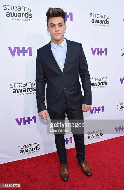 Internet personality Grayson Dolan attends VH1's 5th Annual Streamy Awards at the Hollywood Palladium on Thursday September 17 2015 in Los Angeles...