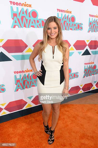 Internet personality iJustine arrives at the 5th Annual TeenNick HALO Awards at Hollywood Palladium on November 17 2013 in Hollywood California