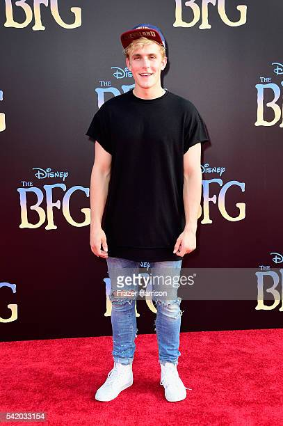 Internet personality Jake Paul attends Disney's 'The BFG' premiere at the El Capitan Theatre on June 21 2016 in Hollywood California