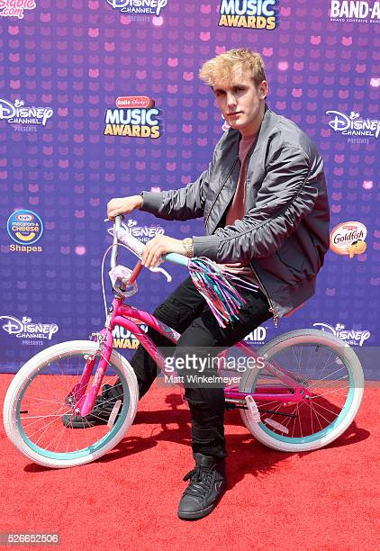 Internet personality Jake Paul attends the 2016 Radio Disney Music Awards at Microsoft Theater on April 30 2016 in Los Angeles California