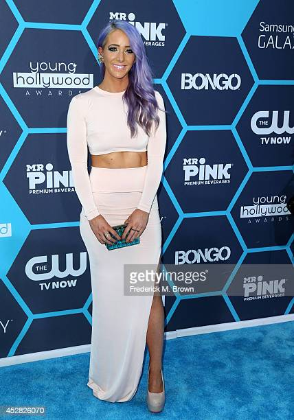 Internet personality Jenna Marbles attends the 2014 Young Hollywood Awards brought to you by Samsung Galaxy at The Wiltern on July 27 2014 in Los...