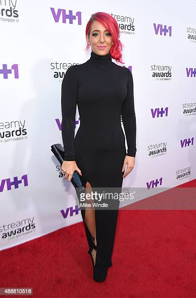 Internet personality Jenna Marbles attends VH1's 5th Annual Streamy Awards at the Hollywood Palladium on Thursday September 17 2015 in Los Angeles...