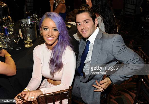 Internet personality Jenna Marbles and guest at the 2014 Young Hollywood Awards brought to you by Samsung Galaxy at The Wiltern on July 27 2014 in...