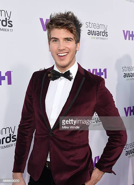 Internet personality Joey Graceffa attend VH1's 5th Annual Streamy Awards at the Hollywood Palladium on Thursday September 17 2015 in Los Angeles...