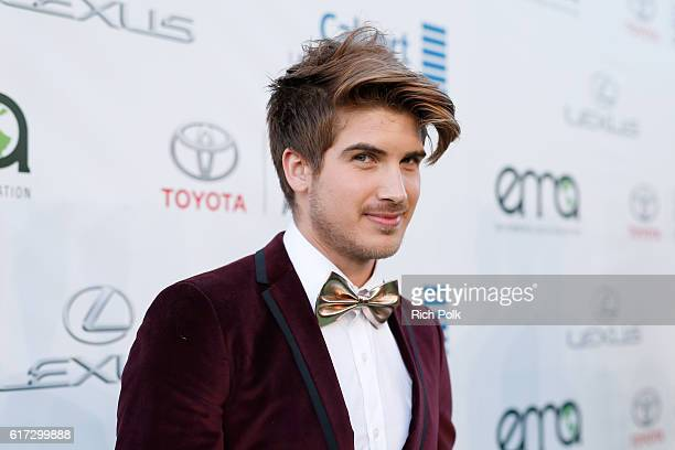 Internet personality Joey Graceffa attends the Environmental Media Association 26th Annual EMA Awards Presented By Toyota Lexus And Calvert at Warner...