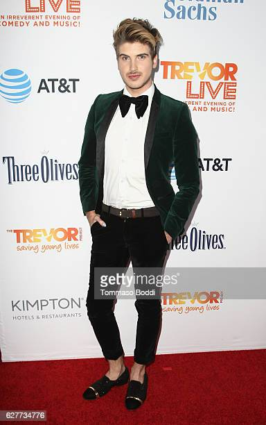 Internet personality Joey Graceffa attends The Trevor Project's 2016 TrevorLIVE LA at The Beverly Hilton Hotel on December 4 2016 in Beverly Hills...