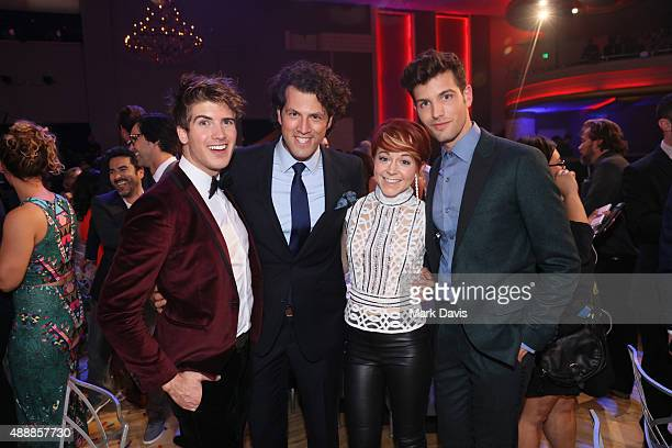 Internet personality Joey Graceffa Streamy Awards Founder Drew Baldwin musician Lindsey Stirling and internet personality Daniel Christopher Preda...