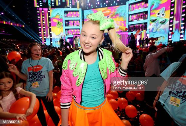 Internet personality JoJo Siwa at Nickelodeon's 2017 Kids' Choice Awards at USC Galen Center on March 11 2017 in Los Angeles California