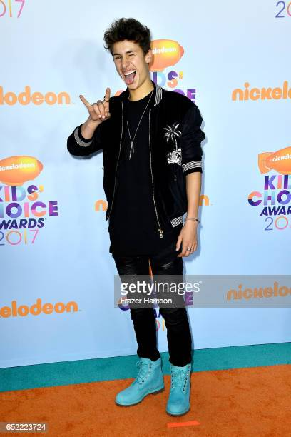 Internet personality Juanpa Zurita at Nickelodeon's 2017 Kids' Choice Awards at USC Galen Center on March 11 2017 in Los Angeles California
