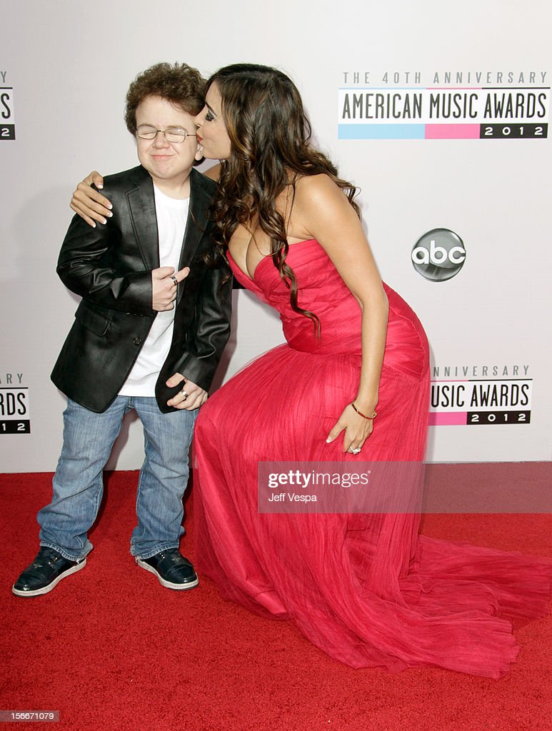 Internet personality Keenan Cahill and model Mayra Veronica attend the 40th Anniversary American Music Awards held at Nokia Theatre LA Live on...