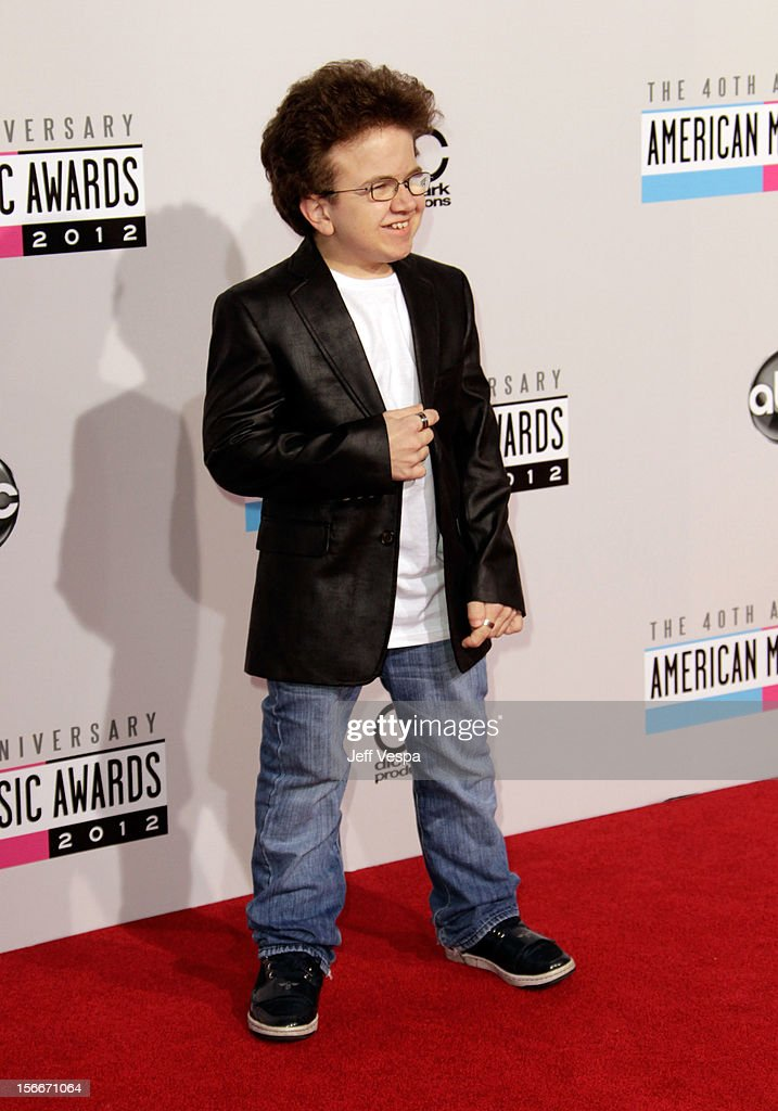 Internet personality Keenan Cahill attends the 40th Anniversary American Music Awards held at Nokia Theatre LA Live on November 18 2012 in Los...