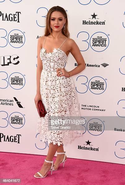 Internet personality Kristina Bazan attends the 2015 Film Independent Spirit Awards at Santa Monica Beach on February 21 2015 in Santa Monica...