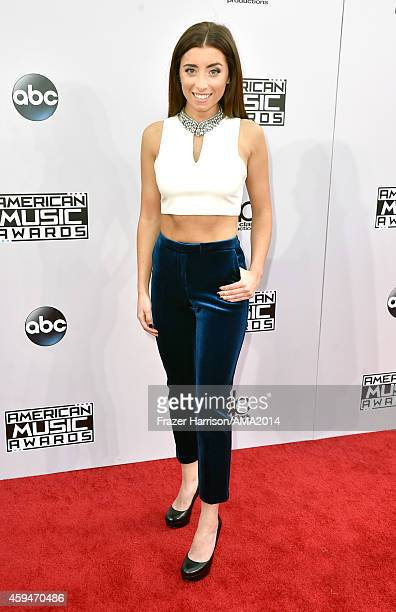 Internet personality Lauren Elizabeth attends the 2014 American Music Awards at Nokia Theatre LA Live on November 23 2014 in Los Angeles California