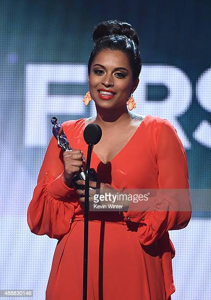 Internet personality Lilly Singh accepts the award for Best First Person Series at VH1's 5th Annual Streamy Awards at the Hollywood Palladium on...
