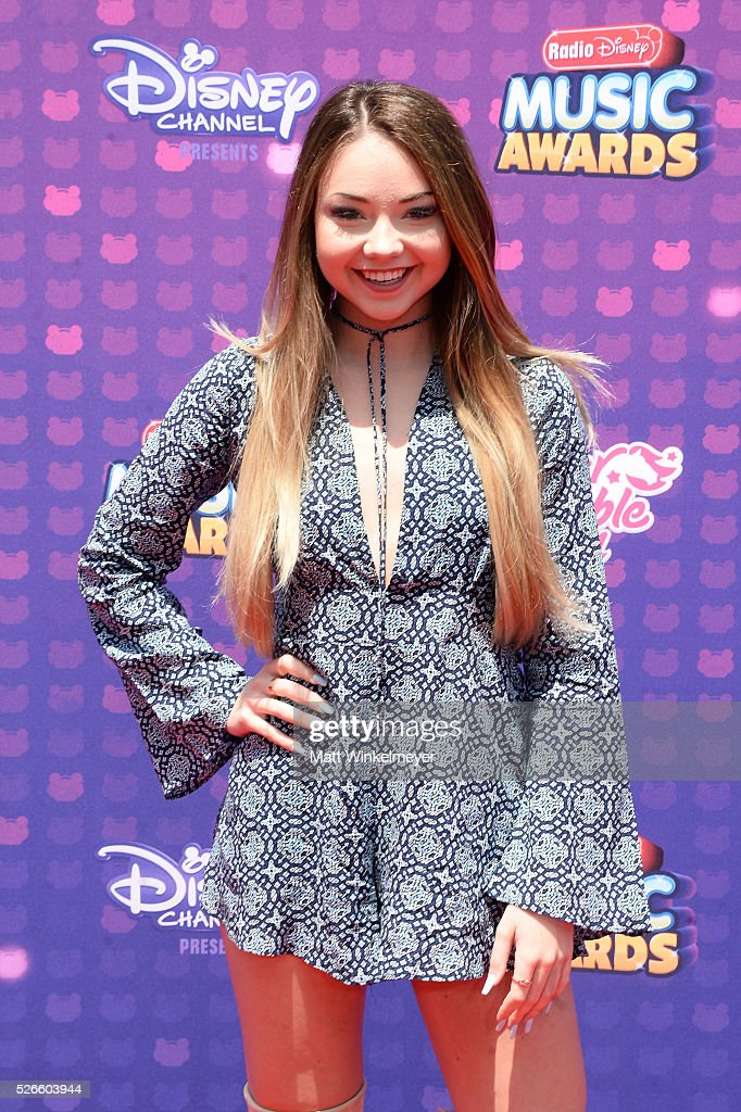 Internet personality Meredith Foster attends the 2016 Radio Disney Music Awards at Microsoft Theater on April 30, 2016 in Los Angeles, California.