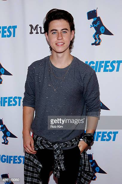 Internet personality Nash Grier attends DigiFest NYC 2015 on June 6 2015 in New York City