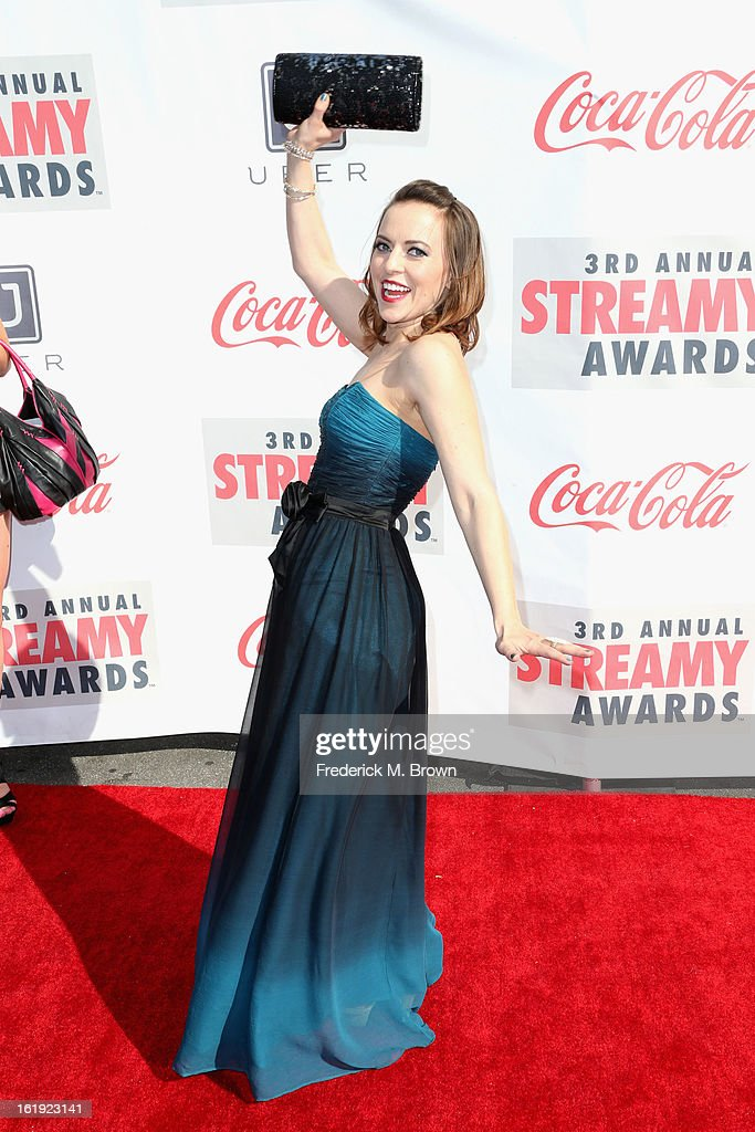 Internet personality Olga Kay attends the 3rd Annual Streamy Awards at Hollywood Palladium on February 17, 2013 in Hollywood, California.