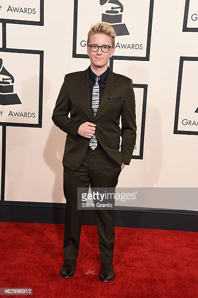 Internet personality Tyler Oakley attends The 57th Annual GRAMMY Awards at the STAPLES Center on February 8 2015 in Los Angeles California