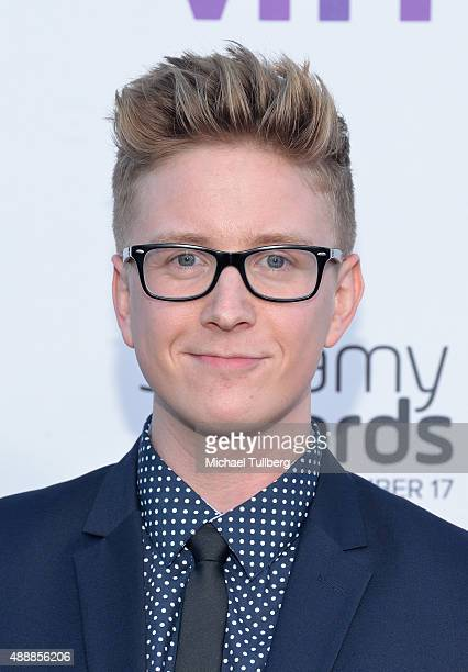 Internet personality Tyler Oakley attends the 5th Annual Streamy Awards at Hollywood Palladium on September 17 2015 in Los Angeles California