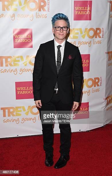 Internet personality Tyler Oakley attends 'TrevorLIVE LA' Honoring Robert Greenblatt Yahoo and Skylar Kergil for The Trevor Project at Hollywood...
