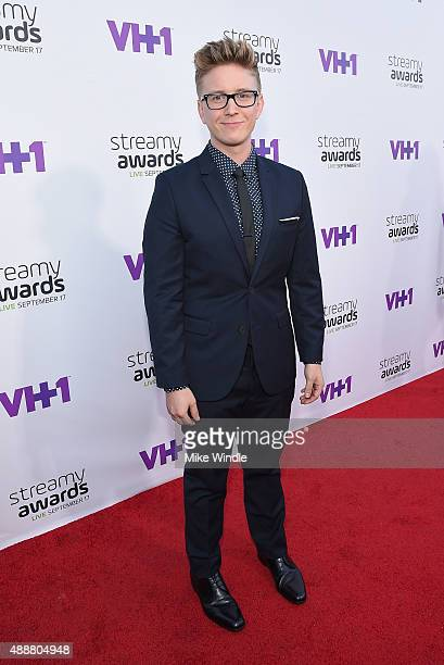 Internet personality Tyler Oakley attends VH1's 5th Annual Streamy Awards at the Hollywood Palladium on Thursday September 17 2015 in Los Angeles...