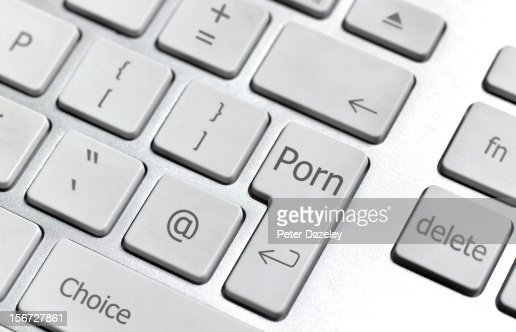 Internet porn computer keyboard : Foto stock