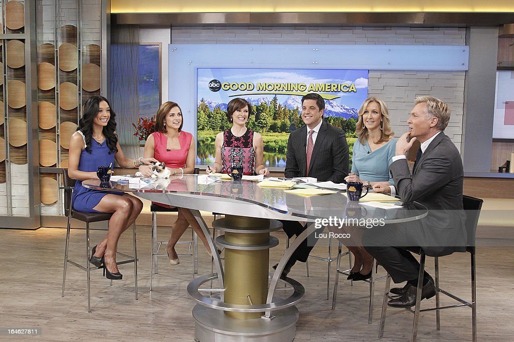 AMERICA - Internet sensation Grumpy Cat appears on 'Good Morning America,' 3/22/13, airing on the ABC Television Network. (Photo by Lou Rocco/ABC via Getty Images) RACHEL