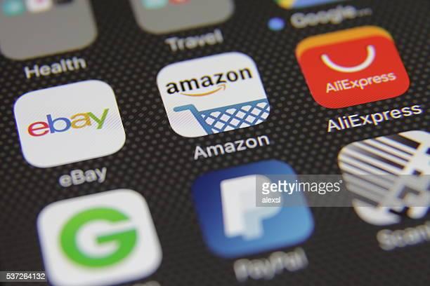 Comercio electrónico de compras de Internet de la aplicación
