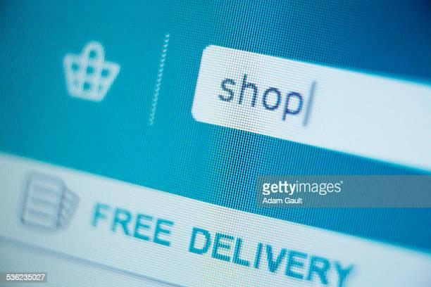 Internet shopping search box