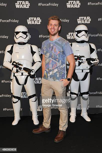 Internet star Corey Vidal attends the Unboxing of new product line in promotion of Lucasfilm's 'Star Wars Episode VII The Force Awakens' at the Metro...