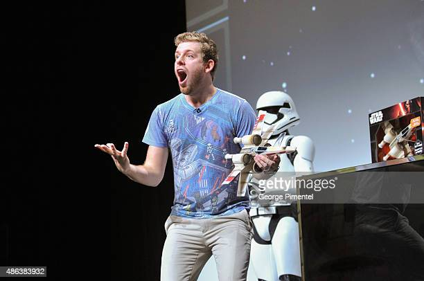 Internet star Corey Vidal during the presentation of the Unboxing of new product line in promotion of Lucasfilm's 'Star Wars Episode VII The Force...