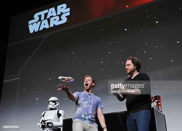 Internet stars Corey Vidal and Martin Glaude during the presentation of the Unboxing of new product line in promotion of Lucasfilm's 'Star Wars...