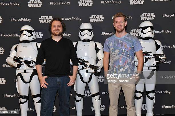 Internet stars Martin Glaude and Corey Vidal attend the Unboxing of new product line in promotion of Lucasfilm's 'Star Wars Episode VII The Force...