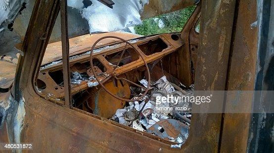 interno di ONU furgone bruciato : Photo