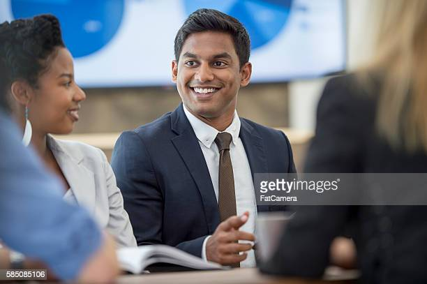 Interns Working on a Business Project