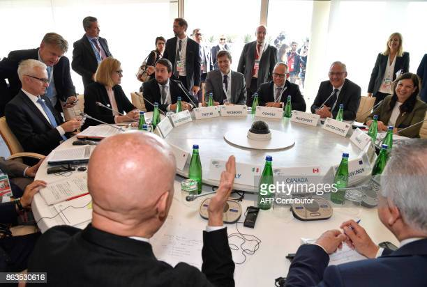Interpol General secretary Jurgen Stock British Secretary of State for the Home Department Amber Rudd Head of Public Policy and Government for the UK...