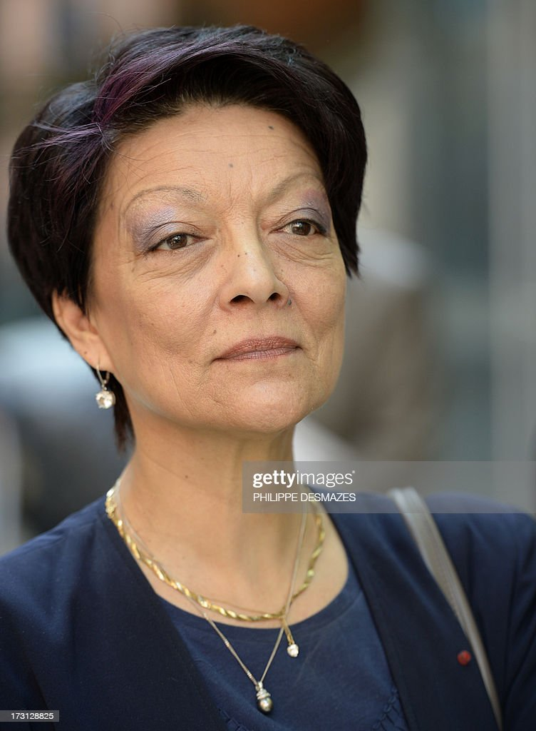 Interpol President Mireille Ballestrazzi arrives at the opening plenary session of an Interpol international forum on Technology Against Crime (TAC) on July 8, 2013, in Lyon, southeastern France. AFP PHOTO/PHILIPPE DESMAZES