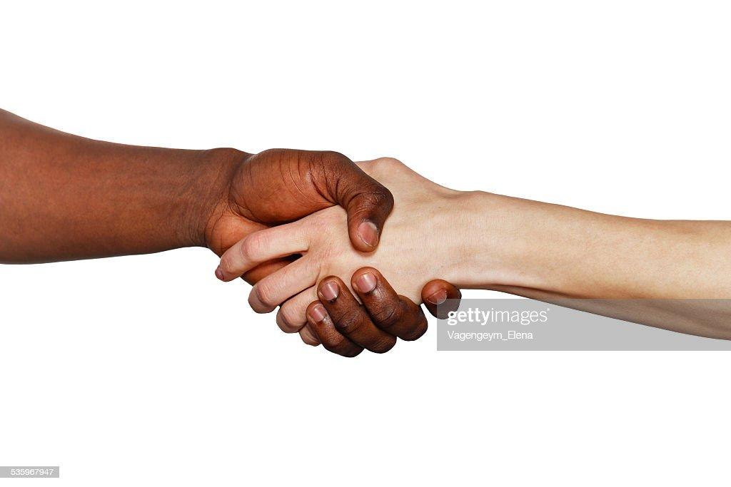 Interracial handshake : Stock Photo