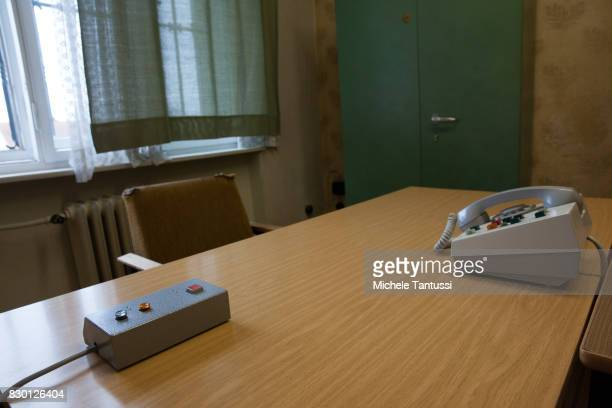 Interrogation Office in the former prison of the East German communistera secret police or Stasi at Hohenschoenhausen on August 11 2017 in Berlin...