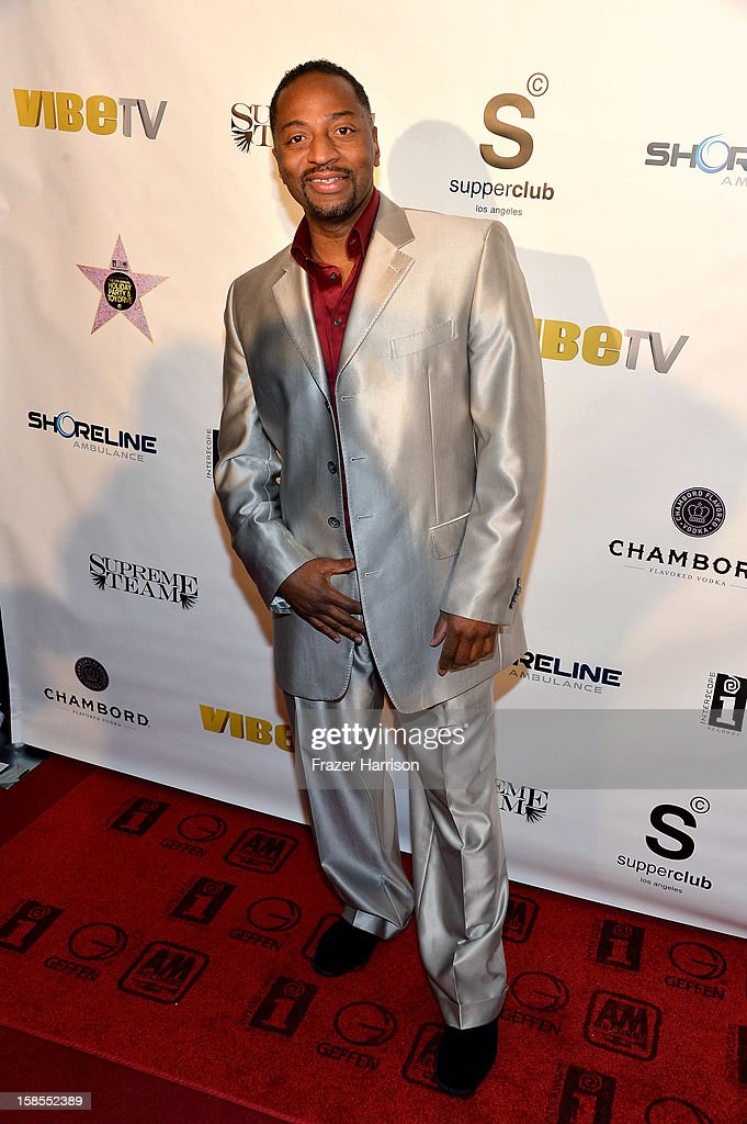 Interscope manager Marlon Singleton arrives at Interscope Geffen A&M Promotions Department 9th Annual Holiday Party And Toy Drive at SupperClub Los Angeles on December 18, 2012 in Los Angeles, California.