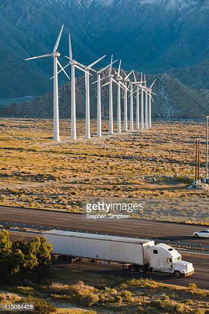 Interstate highway and wind farms